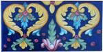 Tile Acanthus Hearts