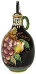 Olive Oil Dispenser GP Black with Red grapes 20cm
