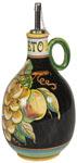 Vinegar Dispenser GP Black with White Grapes 20cm