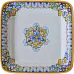 Italian Square Platter - Orange/Blue/Brown - 30cm