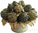 Tuscan Ceramic Centerpiece - Artichokes Bouquet