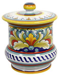 Ceramic Majolica Jar - Corallo