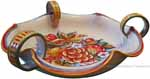 Italian Centerpiece Handled Bowl - Frutta Creme