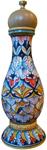 Deruta Italian Ceramic Pepper Grinder - Deruta Ricco Large
