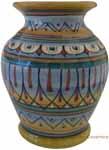 Deruta Italian Ceramic Vase Feathers