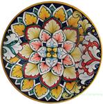 Ceramic Majolica Plate Red Green FDL