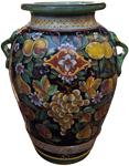 Deruta Floor Vase/Umbrella Stand - Frutta Fonda Nero 75cm