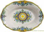 Italian Ceramic Oval Platter - D'Oro Gold - 36cm