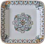 Deruta Rectangular Platter - Green/Orange FLD