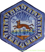 Tile Bologna Hexagonal Animal