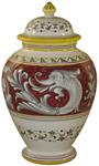 Italian Ceramic Centerpiece Urn - Delfini
