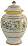 Italian Ceramic Centerpiece Urn - Delfini Small