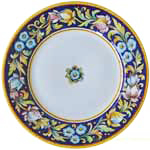 Deruta Italian Dinner Plate - Blue Flower