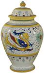 Italian Ceramic Centerpiece Urn - Raffaellesco