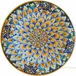 Majolica Plate - Acanthus/Fleur De Lis 30cm