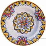 Italian Ceramic Pasta Bowl - Vario Antico - Spear Leaves