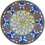 Majolica Plate - Flower/Fleur De Lis 30cm