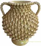 Tuscan Handmade Handled Vase - Honey with Pine