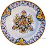 Italian Ceramic Pasta Bowl - Vario Antico Flower3