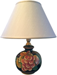 Small Elegant Ceramic Lamp - Frutta Fonda Nero -10 inch
