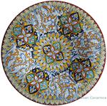 Ceramic Majolica Plate White Acanthus 52cm