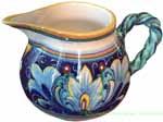 Italian Ceramic Creamer - Ricco Vario Braided Handle