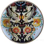Majolica Plate - Raffaellesco on Black 30cm