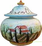 Biscotti Cookie Jar - Tuscan Poppies 20cm