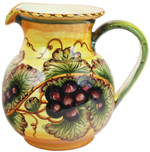 Tuscan Country Grapes Pitcher