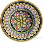 Hanging/Dipping Plate - Yellow Green Flower - 12cm