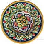 Hanging/Dipping Plate - Yellow Flower - 12cm