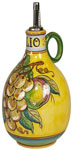 Olive Oil Dispenser GP Yellow with White Grapes 20cm