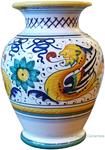 Deruta Italian Ceramic Vase Raffaellesco