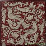 Tile Fonda Rossa - Red Doves Corner 1