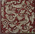 Tile Fonda Rossa - Red Doves Corner 3