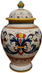 Italian Ceramic Centerpiece Urn - Ricco Deruta
