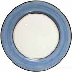 Italian Charger Plate - Black Border Solid Light Blue - Platino