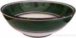 Italian Dessert/Soup Bowl - Black Rim Solid Emerald Green