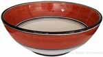 Italian Dessert/Soup Bowl - Black Rim Solid Rossiccio