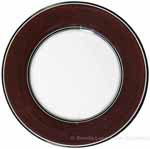 Italian Dinner Plate Black Rim Solid Cafe Brown