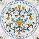 Tile Ricco Deruta Bouquet NC - 20cm