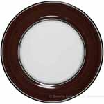 Deruta Italian Pasta Plate - Black Border Solid Brown - Cafe