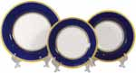 Italian Dinner Place Setting - Yellow Border Blue