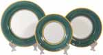 Italian Dinner Place Setting - Yellow Border Green