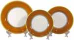 Italian Dinner Place Setting - Yellow Border Orange