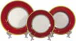 Italian Dinner Place Setting - Yellow Border Red