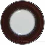 Deruta Italian Salad Plate - Black Rim Solid Brown - Cafe