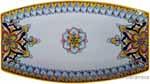 Italian Ceramic Curved Platter - SG Flowers