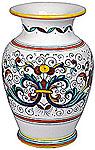 Deruta Italian Ceramic Vase - Ricco Deruta