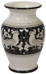 Deruta Italian Ceramic Vase Fondo Nero